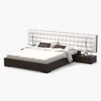 maya bed walnut wood