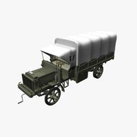 3d model historic liberty truck