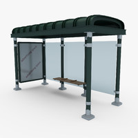 new york bus stop 3d model