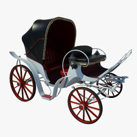 retro carriage 3d fbx