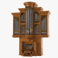 3d model church organ