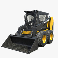 skid steer loader 3d max