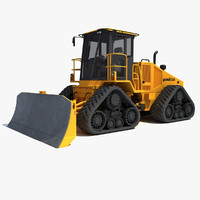 3d model of bulldozer dozer