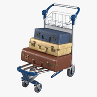 Loaded Baggage Cart
