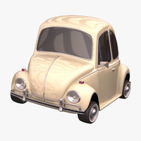 3d model volkswagen beetle toon car