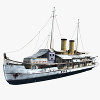 3d model of ship steam