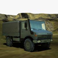 3d model mercedes unimog u1300l