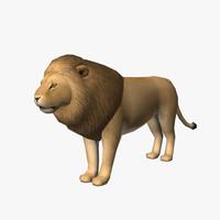 male lion 3d max