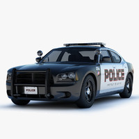 3d dodge charger police car