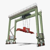gantry crane 3d max