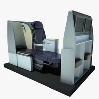 seat airplane business 3d model