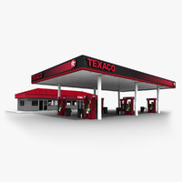 3ds max texaco gas station convenience store