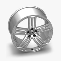 3d model of scirocco r talladega alloy wheel