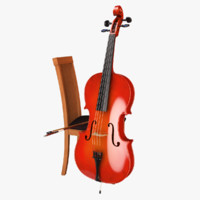 cello bow 3d 3ds