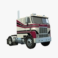 international 9670 cabover tandem 3d model