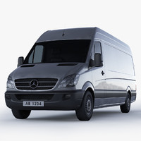 3d mercedes-benz sprinter van