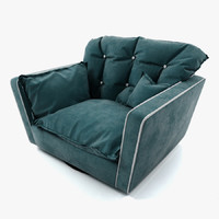 3d sorrento armchair baxter model