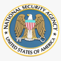 3d model national nsa seal