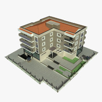 apartment building 3 3d 3ds