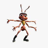 worker ant rigged animation character 3d max