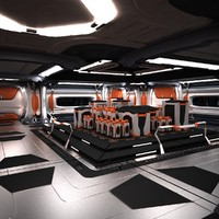 sci fi spaceship station 3d max