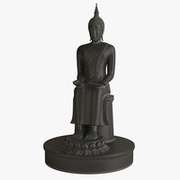 thai buddha 2 3d model