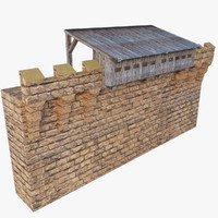 3d realistic medieval wall hoarding