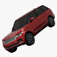 3d model land rover range supercharged