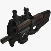 3d p90 submachine gun