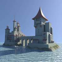3ds max sea castle