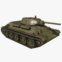 Tank T34-76 1941 Year Version