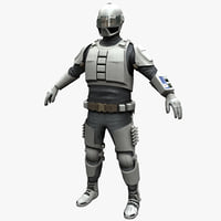 3ds max futuristic army solider rigged