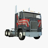 3d model of cabover truck