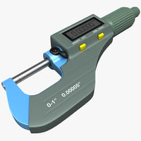 digital micrometer accuremote 3d model
