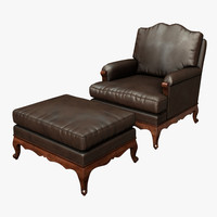 leather chair 3d obj