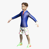 man character cartoon 3d x