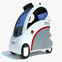 3ds max hitachi ropits robot car