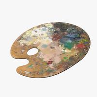 3d artist palette