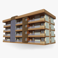 apartment building 3d max