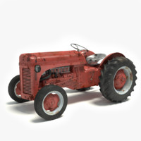 3ds max old rusty tractor