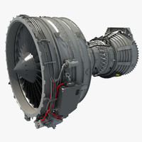 obj cfm56 turbofan aircraft engine