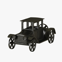3d old antique toy car