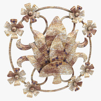 3d model baroque wall decor