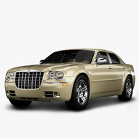 3d chrysler 300 luxury sedan