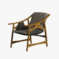 armchair wood 3d max