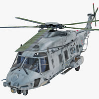 NHIndustries NH90 Military Helicopter 2 Rigged