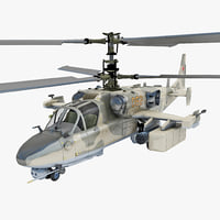 Russian Attack Helicopter Kamov KA 52 Rigged