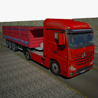 3d mercedes actros mp4 dump truck model