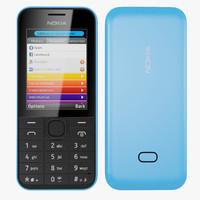 Nokia 207 3D models