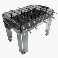 3d model diamond cristallino foosball table